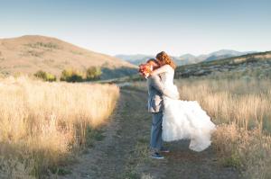 Ruffled Skirt on Bridal Gown