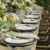 Rustic Elegant Outdoor Reception Table Decor