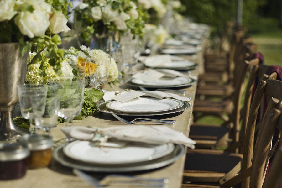 Rustic Elegant Outdoor Reception Table Decor Elizabeth