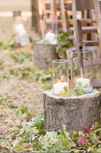 Rustic Tree Stump Aisle Decor Elizabeth Anne Designs