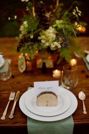 Rustic Wood Place Card Holders
