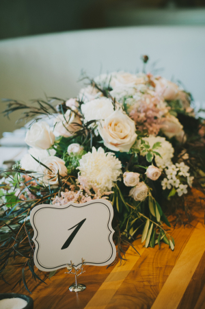 Scalloped Reception Table Numbers