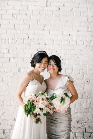 Silver One Shoulder Bridesmaids Dress
