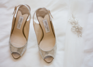 Silver Snakeskin Bridal Shoes