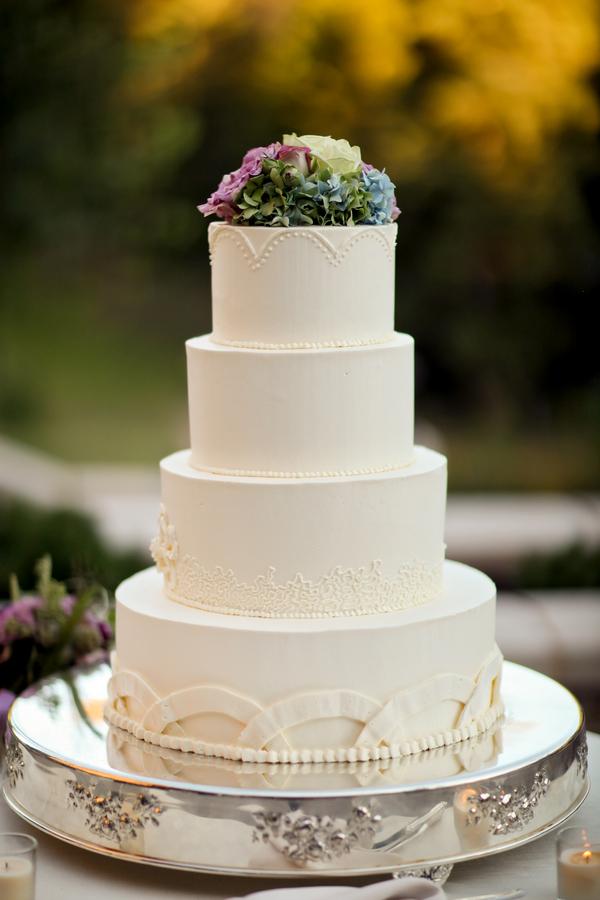 Plain White Wedding Cake Tiers