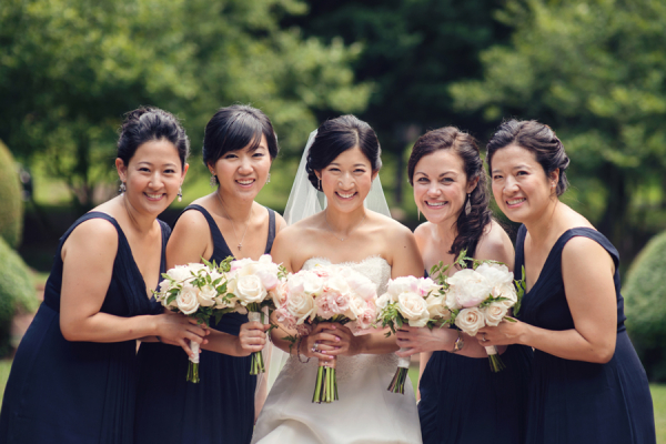 Sleeveless Navy Bridesmaids Dresses