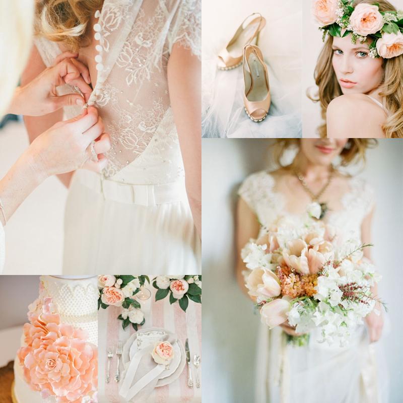 Soft Peach Wedding Inspiration