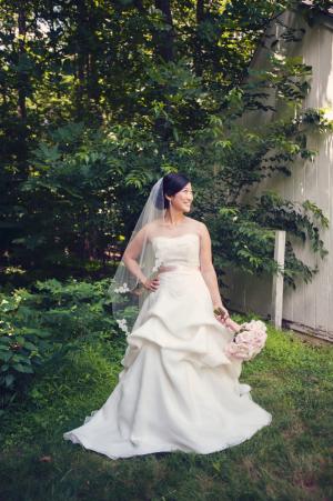 Strapless Draped Skirt Bridal Gown