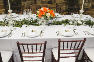 Tabletop with Greenery Garland