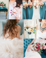 Teal and Berry Wedding Colors