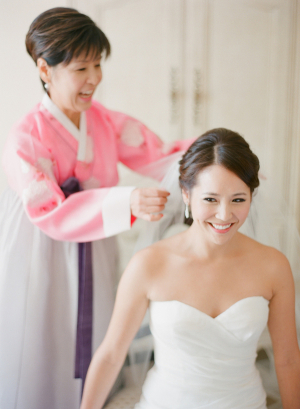 Traditional Asian Mother of the Bride Dress