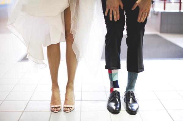 Unique Socks on Groom