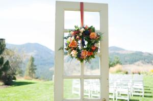 Vintage Door with Wreath Wedding