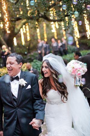Wedding Ceremony Under String Lights