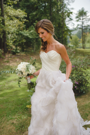 Wedding Gown with Ruffled Skirt