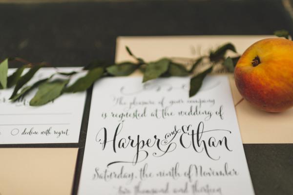 Wedding Invitations with Calligraphy