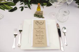 Wedding Menu with Calligraphy