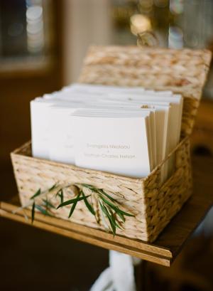Wedding Program Basket
