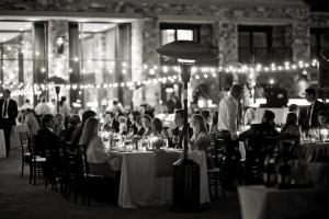 Wedding Reception Under String Lights