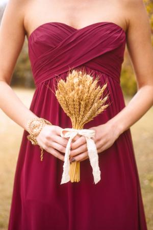 Wheat Bridesmaids Bouquet