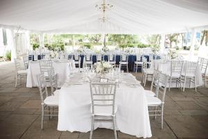 White Silver Blue Reception