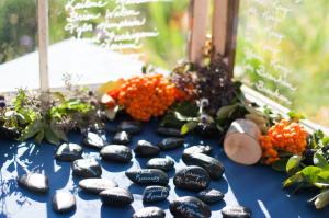 Window and Stone Escort Cards