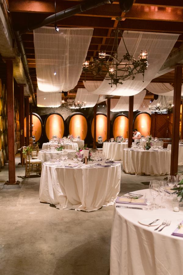 Winery Reception Setting