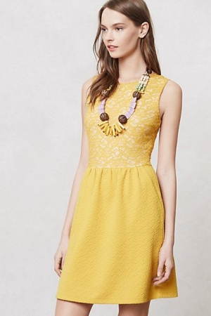 Yellow Dress Anthropologie