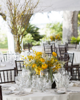 Yellow Wildflower Centerpiece