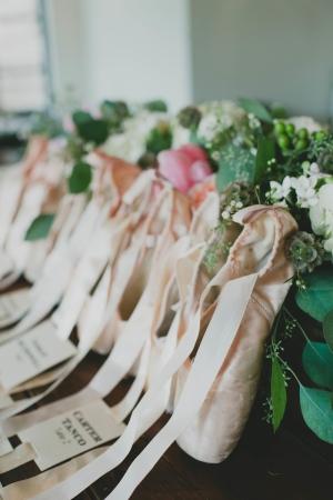 Ballet Shoe Escort Card Table