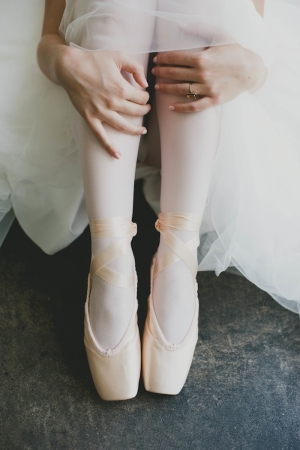 Ballet Shoes on Bride