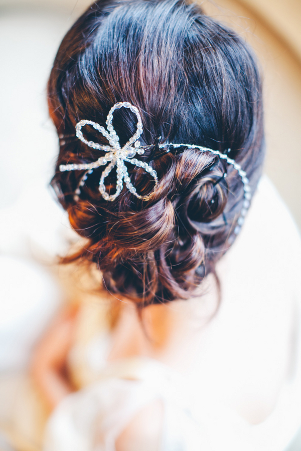 Beaded Bridal Hairpiece