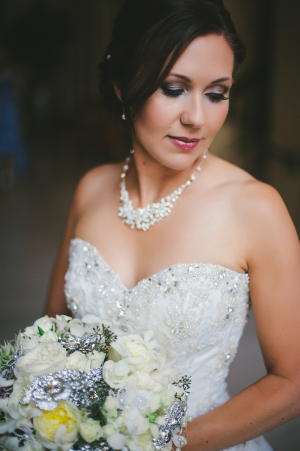 Beaded Sweetheart Style Bridal Gown