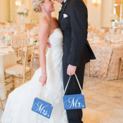 Blue Mr. and Mrs. Chair Signs