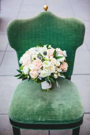 Blush Rose and Anemone Bouquet