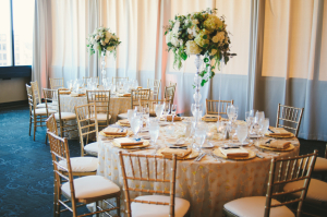 Blush and Gold Reception Decor