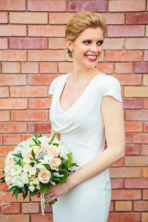 Bride in Alexander McQueen
