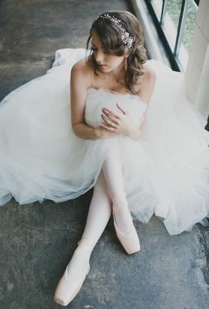 Bride in Ballet Shoes