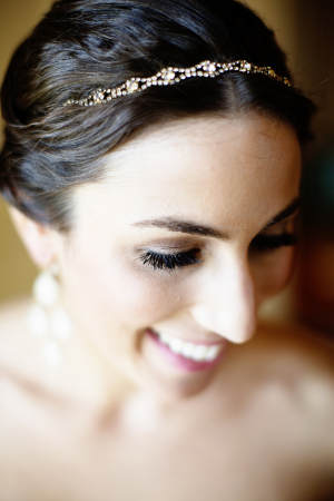 Bride in Crystal Headband
