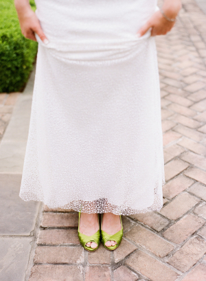 Bride in Green Shoes