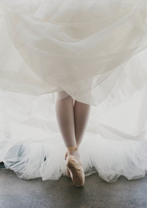 Bride in Pointe Shoes