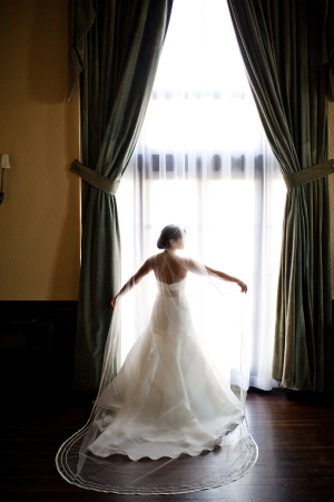 Bride in Rivini Gown