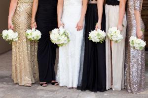 Bridesmaids in Metallics