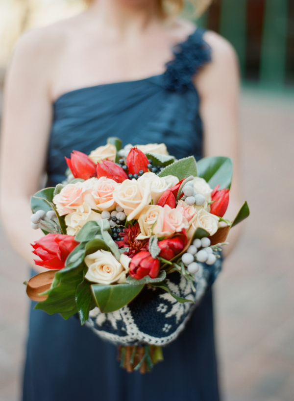 Bridesmaids with Custom Mittens