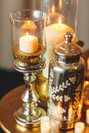 Candle Glitter and Mercury Glass