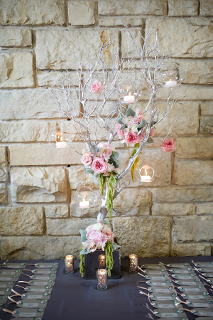 Candles on Tree Branches Centerpiece