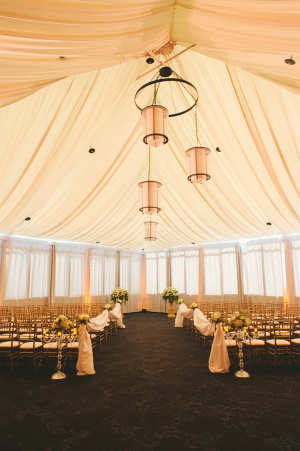 Ceremony Tent With Blush Decor