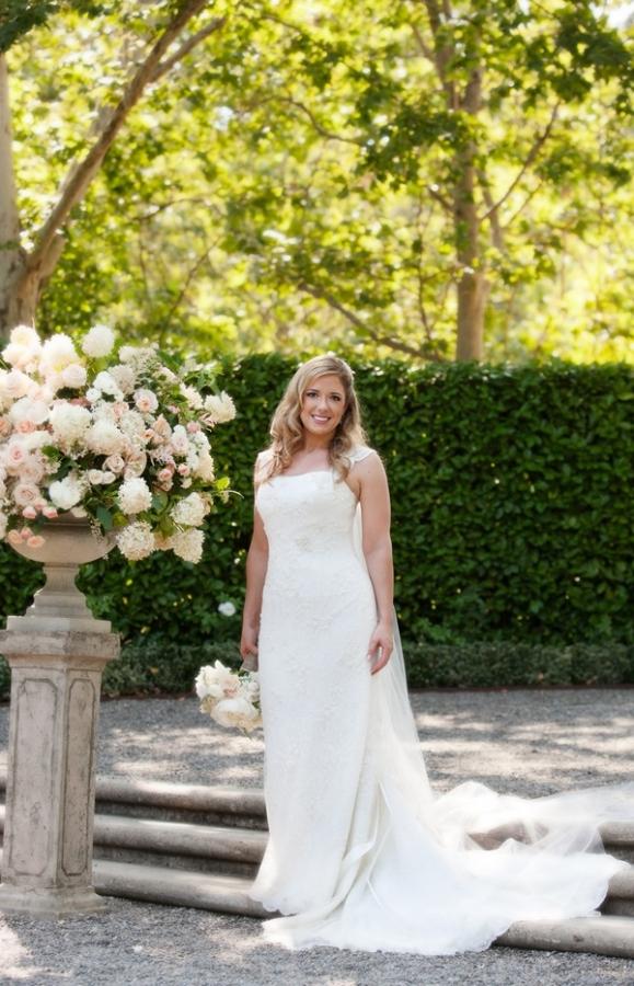Column Style Wedding Gown
