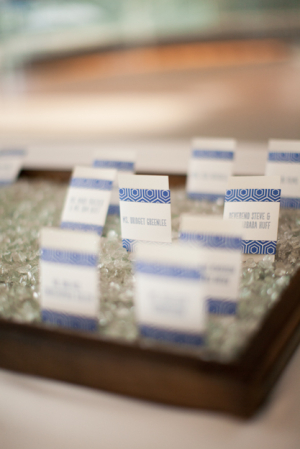 Contemporary Blue Place Cards