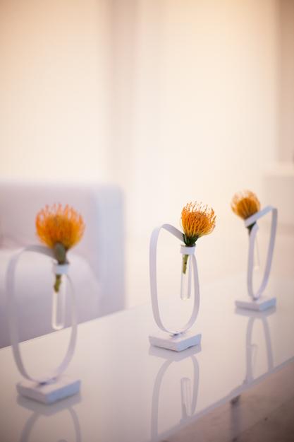 . Contemporary Flower Arrangements at Wedding   Elizabeth Anne Designs